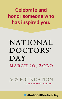 National Doctors' Day is March 30