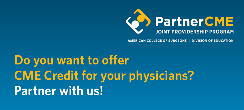 Want to offer CME? Partner with ACS