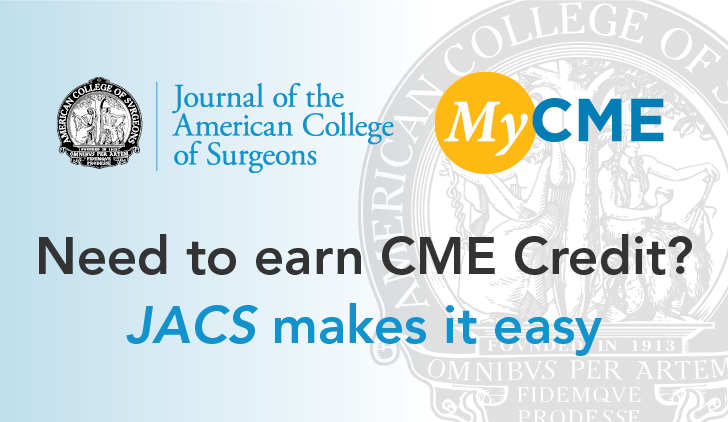 Earn CME credti with JACS