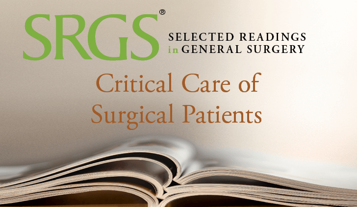 Critical Care of Surgical Patients I cover