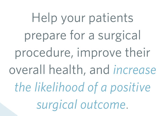 Help your patients prepare for a surgical procedure.